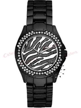 GUESS Crystal Black Stainless Steel Bracelet