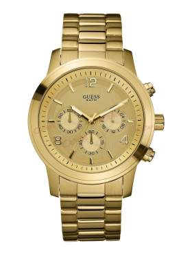 GUESS Gold Stainless Steel Bracelet Chronograph W14043L1