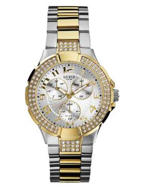 GUESS Two-Tone Stainless Steel Bracelet Crystal Ladies