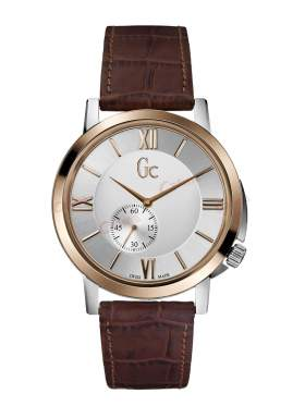 GUESS Collection Brown Leather Strap X59001G1S