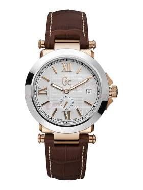 GUESS Collection Brown Leather Strap X61002G1