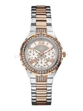 GUESS Ladies' Sport Multifunction Two-Tone Bracelet Watch W0111L4