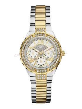 GUESS Ladies' Sport Multifunction Two Tone Bracelet Watch W0111L5