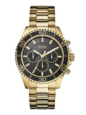 GUESS Gold Stainless Steel Bracelet Chronograph W0170G2