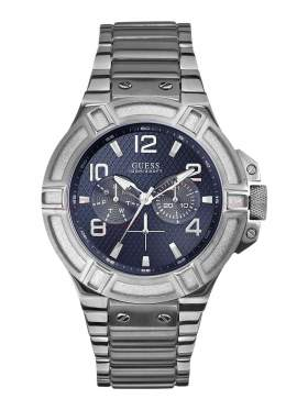 GUESS Men's Rigor Multi Dial Stainless Steel Bracelet Watch W0218G2