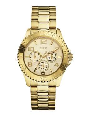 GUESS Yellow Gold Ladies Chrono Style Watch W0231L2