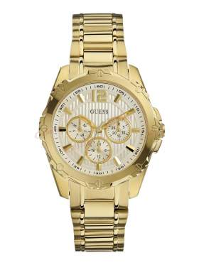 GUESS Gold Stainless Steel Bracelet Chronograph