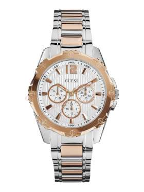 GUESS Two Tone Stainless Steel Bracelet Chronograph W0232L4