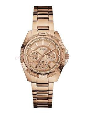 GUESS Ladies' Sport PVD Rose Gold Plated Bracelet Watch W0235L3