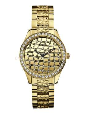 GUESS Ladies' Sport PVD Gold Plated Bracelet Watch W0236L2