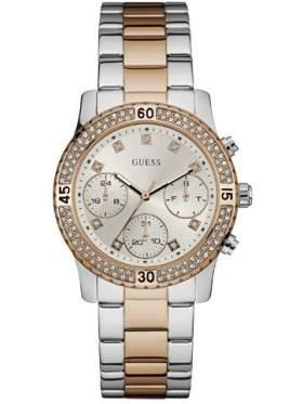 GUESS W0851L3 Γυναικείο Ρολόι Quartz Χρονογράφος Ακριβείας