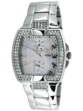 GUESS Stainless Steel Crystal Ladies Calendar W15055L1