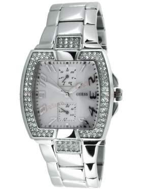GUESS Stainless Steel Crystal Ladies Calendar W15055L1