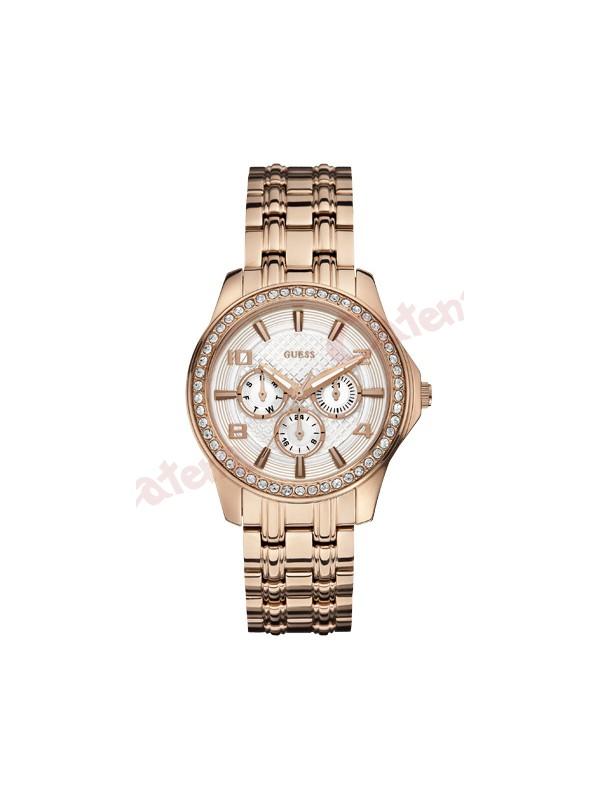Guess Γυναικείο Ρολόι Ροζ Επιχρυσωμένο – Κρύσταλλα SWAROVSKI W0147L3. › febfa5a30b0