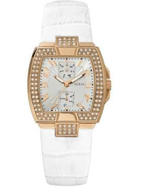 GUESS Gold Stainless Steel Crystal Ladies Calendar W15056L2