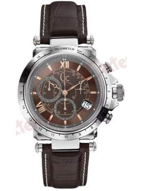 Ρολόι GUESS ανδρικό Chronograph Brown Leather Strap X44006G4