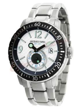 JACQUES FAREL White Dial Stainless Steel Bracelet