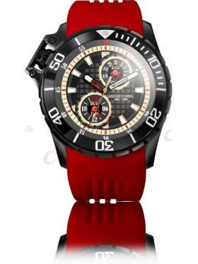 JACQUES FAREL Men's Red Rubber Strap AMB1409