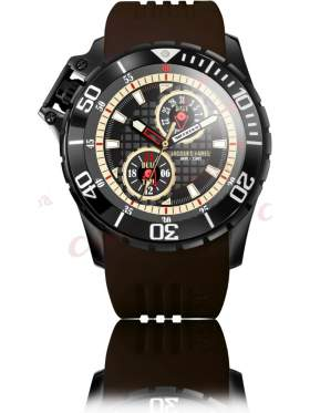 JACQUES FAREL Men's Brown Rubber Strap AMB1412