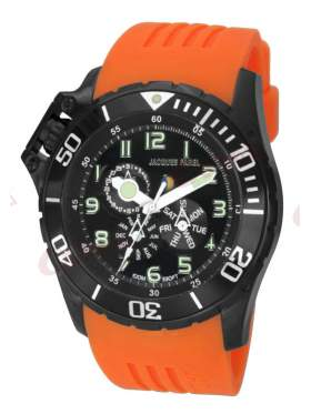 JACQUES FAREL Multifunction Orange Rubber Strap