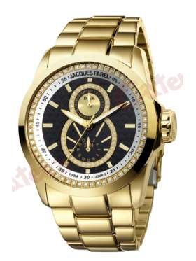 JACQUES FAREL Multifunction Gold Stainless Steel Bracelet
