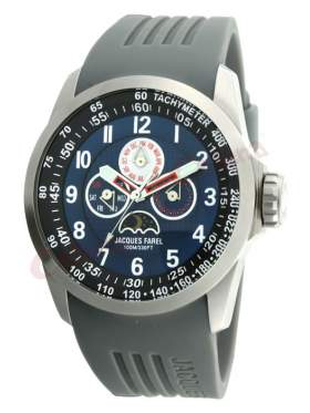 JACQUES FAREL Multifunction Grey Rubber Strap