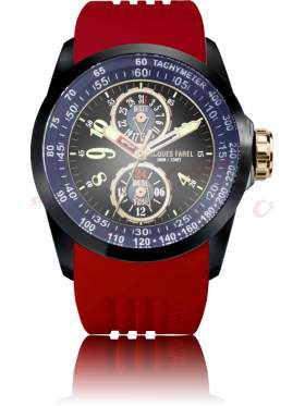 JACQUES FAREL Men's Red Rubber Strap ATR2339