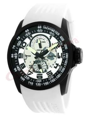 JACQUES FAREL Multifunction White Rubber Strap