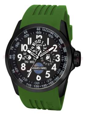 JACQUES FAREL Multifunction Green Rubber Strap