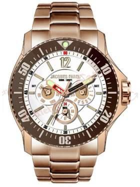 JACQUES FAREL Men's Rose Gold Stainless Steel Bracelet ATX2244