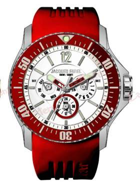 JACQUES FAREL Men's Red Rubber Strap ATX4499