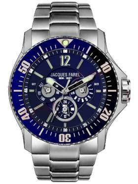 JACQUES FAREL Men's Stainless Steel Bracelet ATX6622