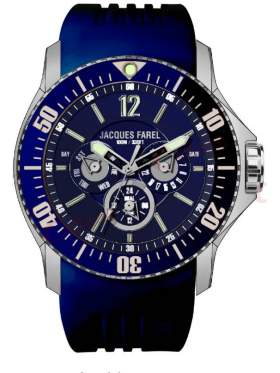 JACQUES FAREL Men's Blue Rubber Strap ATX6633