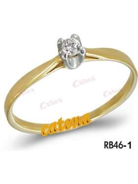 Δακτυλίδι χρυσό καράτια 14 με άσπρη πέτρα swarovski σε σχέδιο μονόπετρο
