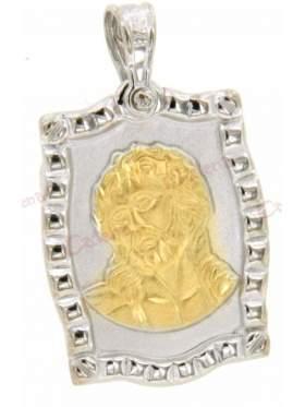 Χρυσό φυλακτό με το πρόσωπο του χριστού διπλής όψεως με το πρόσωπο του χριστού διπλής όψεωςμε το Ιησούς Χριστός Νικά - Ic Xc Nika στην πίσω πλευρά