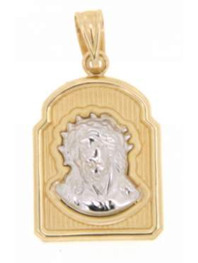 Φυλακτό χρυσό με την κεφαλή του χριστού μονής όψεως