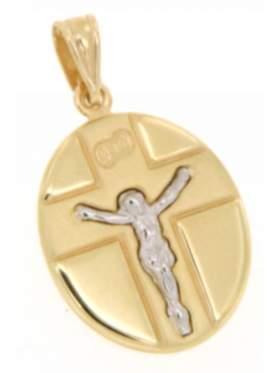 Φυλακτό χρυσό με τον Εσταυρωμένο