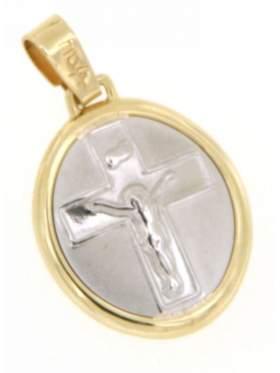 Φυλακτό χρυσό με τον Εσταυρωμένο με κωσταντινάτο στην πίσω πλευρά