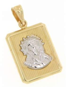 Φυλακτό χρυσό με την κεφαλή του Χριστού