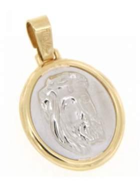 Φυλακτό χρυσό με κεφαλή Χριστού διπλής όψεως με πίσω πλευρά τον Εσταυρωμένο