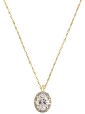 Χρυσό κολιέ καράτια 14 με άσπρες πέτρες ζιργκόν σε σχέδιο ροζέτα στο κέντρο