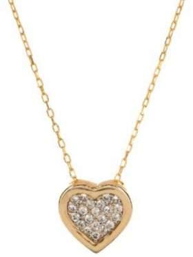 Μενταγιόν σε ροζ χρυσό με αλυσίδα με άσπρες πέτρες ζιργκόν σε σχέδιο καρδιά