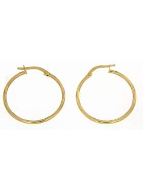 Σκουλαρίκια χρυσά σε σχέδιο κρίκο καράτια 14