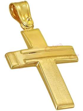 Σταυρός χρυσός ανδρικός καράτια 14