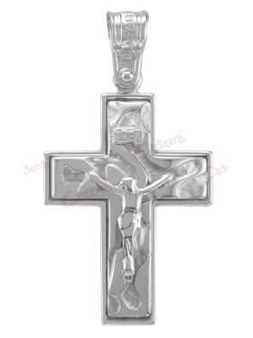 Σταυρός αντρικός με εσταυρωμένο λευκόχρυσος