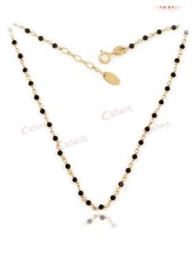 Κολιέ χρυσό με μαύρες πέτρες 24a6c6beb62