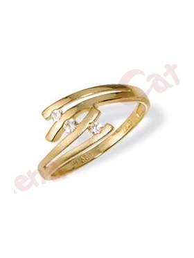 Δαχτυλίδι χρυσό στολισμένο με άπρες πέτρες ζιργκόν