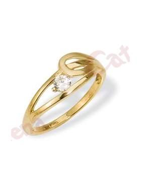 Δαχτυλίδι χρυσό στολισμένο με άσπρη πέτρα ζιργκόν