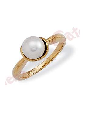 Δαχτυλίδι χρυσό στολισμένο με μαργαριτάρι 891c3c72ef0
