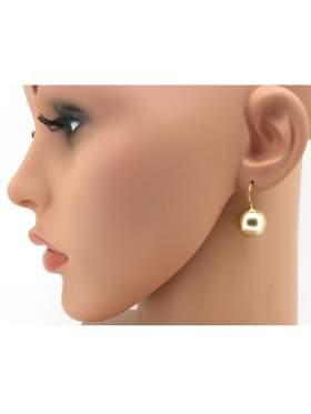 Σκουλαρίκια ασημένια επιχρυσωμένα κίτρινα  με απαλό χρυσαφή χρώμα